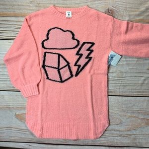 NWT Stem Pink Sweater Dress with graphic